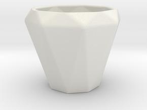 Diamond Esspresso Cup in White Natural Versatile Plastic