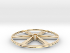 """CHAPP, 1:8 Scale, 26"""" Bicycle Wheel, 120904 in 14k Gold Plated Brass"""