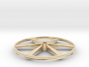 """CHAPP, 1:8 Scale, 24"""" Bicycle Wheel, 120904 in 14k Gold Plated Brass"""