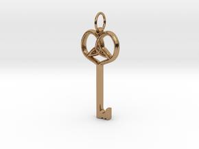 Friggjarlykill  - Key of Frigg in Polished Brass