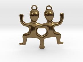 Gemini Pendant in Polished Bronze