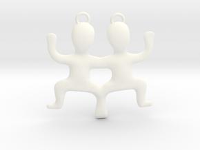 Gemini Pendant in White Processed Versatile Plastic