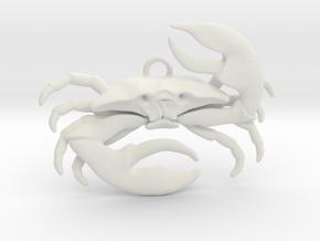 Cancer Pendant in White Natural Versatile Plastic