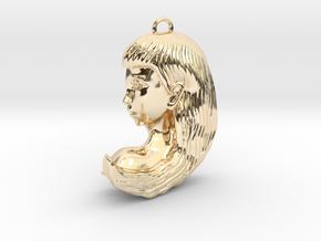 Virgo Pendant in 14K Yellow Gold
