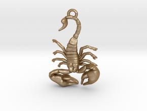 Scorpio Pendant in Matte Gold Steel