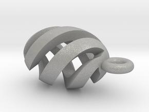Spiral Spheroid Pendant in Aluminum