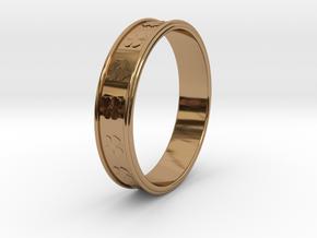 Ø0.781 inch/Ø19.84 Mm Clover Ring in Polished Brass