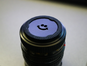 Bokeh Disk Holder (49mm filter thread, 40mm disk) in Black Natural Versatile Plastic