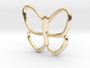 Butterfly Pendant - 22mm in 14K Yellow Gold