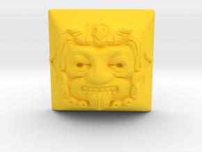 Tonatiuh (Cherry MX DSA) in Yellow Processed Versatile Plastic