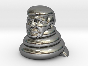 Donald dump in Fine Detail Polished Silver