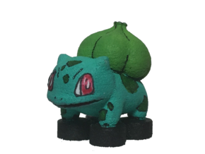 Custom Bulbasaur Pokemon Inspired Lego in White Processed Versatile Plastic