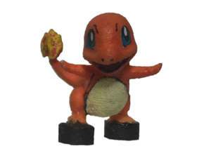 Custom Charmander Pokemon Inspired Lego in White Processed Versatile Plastic