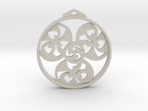 Triskele Pendant / Earring in Natural Sandstone