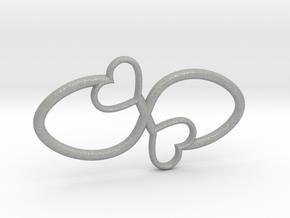 Eternal Double Heart Pendant in Aluminum
