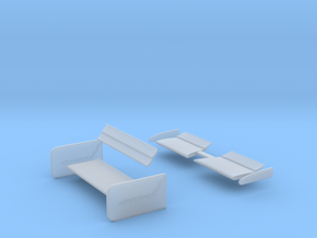 Lola Road Course Wing set 1/25 scale in Frosted Ultra Detail