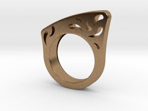 Vitruvio ring in Natural Brass