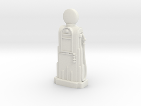 28mm/32mm Scale - 1940's/1950's Petrol Pump  in White Strong & Flexible