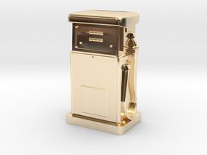35mm Gauge - 1980's Petrol Pump in 14k Gold Plated Brass