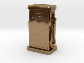 HO/OO Gauge - 1980's Petrol Pump in Natural Brass