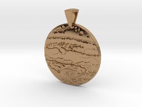 Jupiter Pendant in Polished Brass