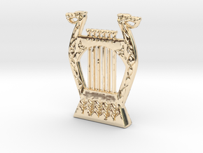 Gígja Braga - Bragis Lyre. in 14K Yellow Gold