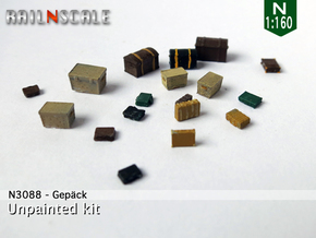 Gepäck (N 1:160) in Frosted Ultra Detail