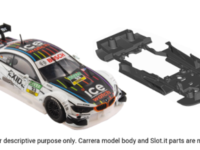S10-ST2 Chassis for Carrera BMW M4 DTM STD/STD in Black Strong & Flexible
