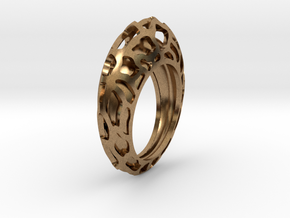 Orbit Central ring in Natural Brass