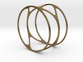 Thin bracelet - 67mm diameter in Polished Bronze