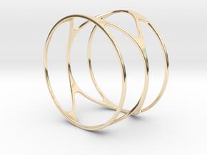 Thin bracelet - 67mm diameter in 14k Gold Plated Brass
