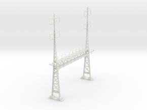 PRR S Scale Lattice Anchor Bridge With Bracket in White Natural Versatile Plastic