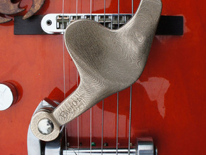Palm-O-Low® Tremolo Arm - LEFT - HANDED in Polished Bronzed Silver Steel
