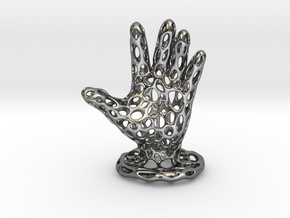 Voronoi Jewelry Hand in Polished Silver