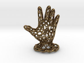 Voronoi Jewelry Hand in Polished Bronze
