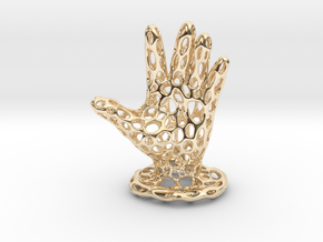 Voronoi Jewelry Hand in 14k Gold Plated Brass