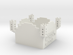 Minecraft Castle in White Natural Versatile Plastic