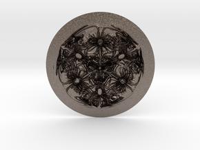 Cyma3D Glyph 'One' in Polished Bronzed Silver Steel