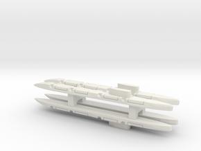 Echo-Class SSGN x 4, 1/2400 in White Natural Versatile Plastic