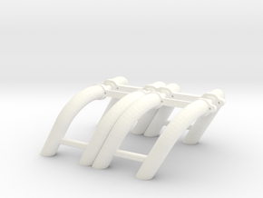 1/18 SBC Zoomie Headers in White Strong & Flexible Polished
