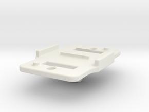 360 degree holder for 2 Kodak Pixpro 4k USB HDMI in White Natural Versatile Plastic