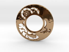MHS compatible Tsuba 6 in Polished Brass