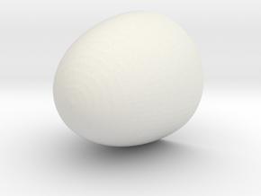 Nose Cone 7.5x7.0x0.2 cm in White Natural Versatile Plastic