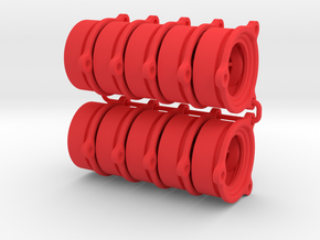 O-ring BackPlate 10 pack in Red Strong & Flexible Polished