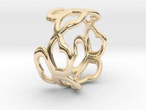 MitubaR11re in 14k Gold Plated Brass