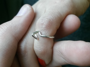"""""""Summit"""" Ring d=13,5mm (all sizes on demand) in Polished Silver"""