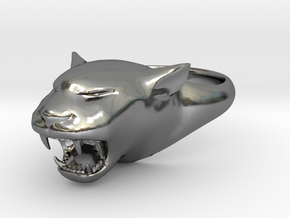 Cougar-Puma Ring , Mountain lion Ring Size 12 in Polished Silver