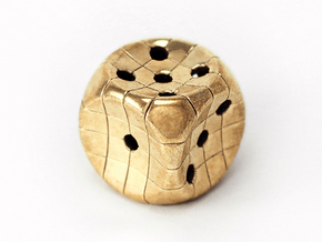 The Net D6 in Polished Brass