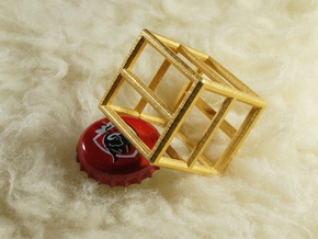 Bottle Opener Cage 1 and other sizes in Polished Gold Steel