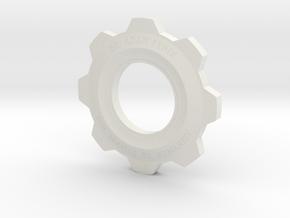 Gears Of War Cog Octus Service Medal in White Natural Versatile Plastic